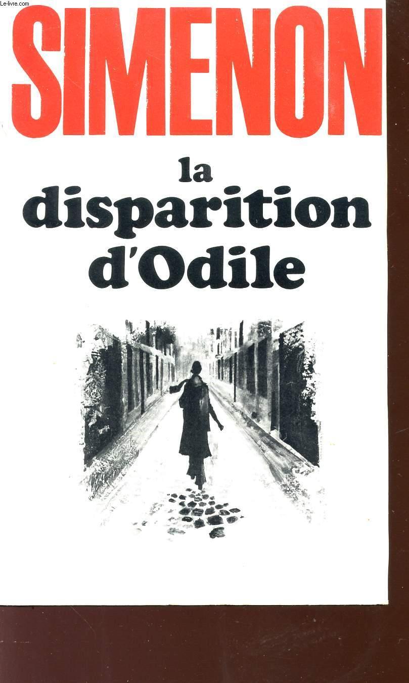 LA DISPARITION D'ODILE.