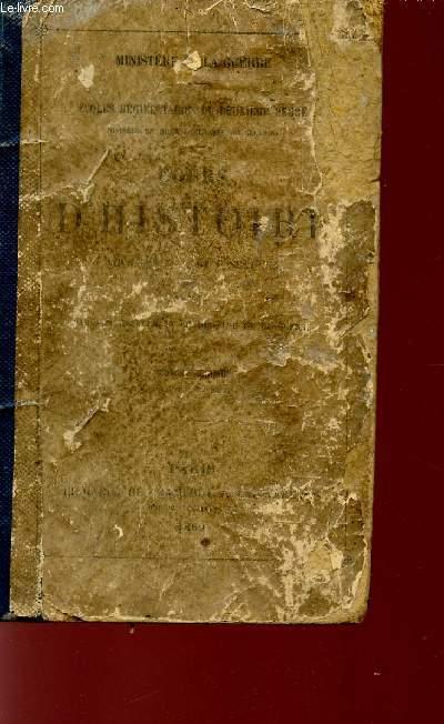 COURS D'HISTOIRE POUR LES 2è, 3è ET 4è SECTIONS - DEUXIEME EDITION.