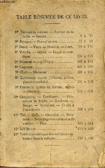 TERMES DE CUISINE - SERVICE DE LA TABLE - SAUCES.