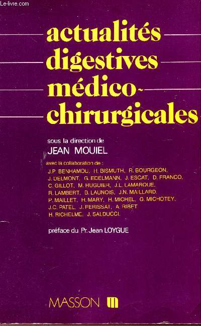 ACTUALITES DIGESTIVES MEDICO-CHIRURGICALES.