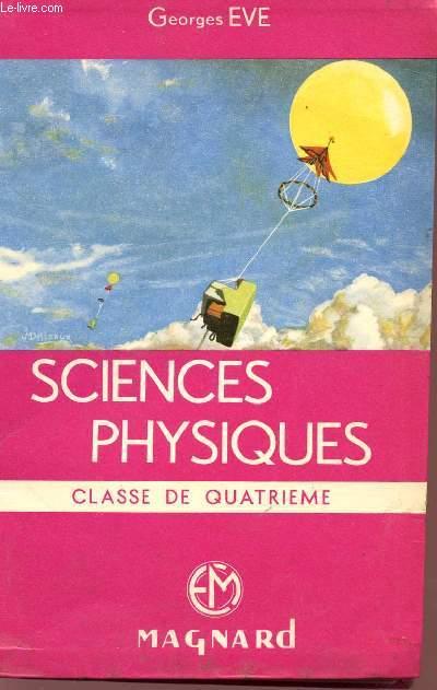 SCIENCES PHYSIQUES - CLASSE DE TROISIEME.