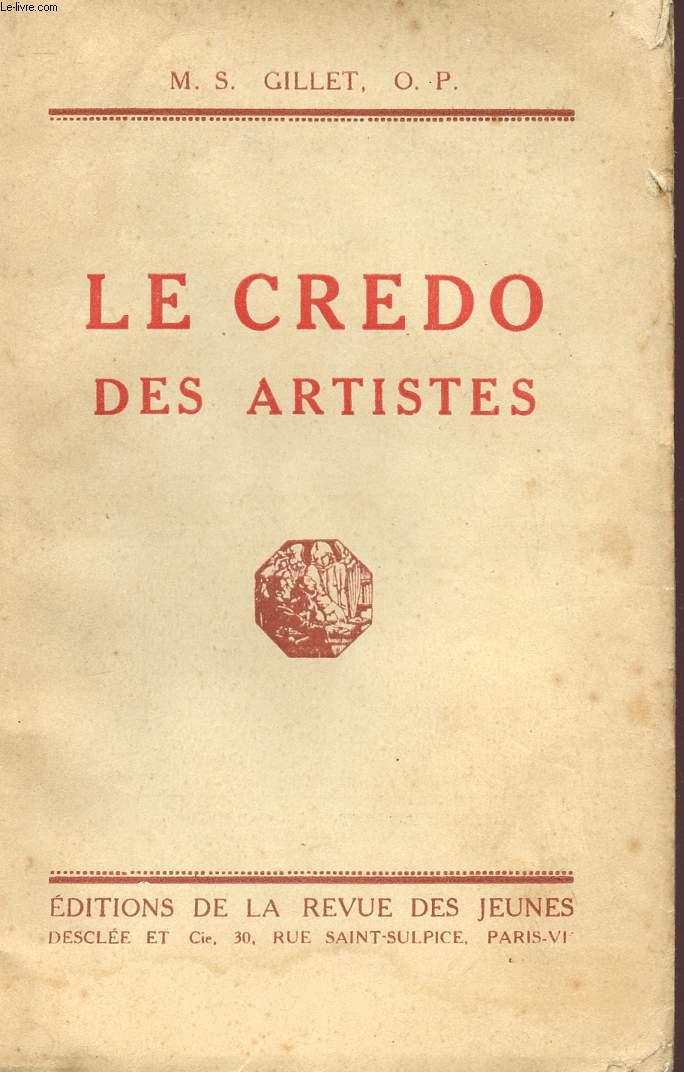 LE CREDO DES ARTISTES.