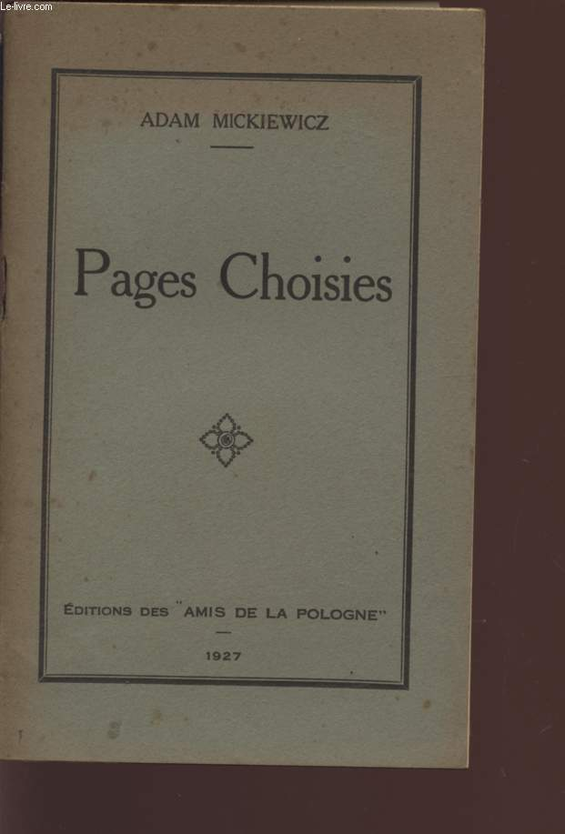 PAGES CHOISIES.