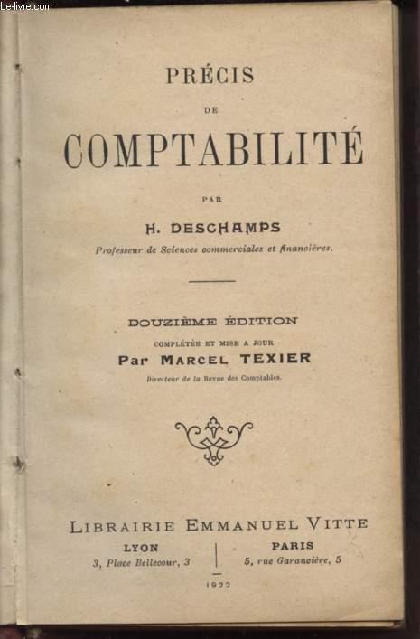 PRECIS DE COMPTABILITE - DOUZIEME EDITION.