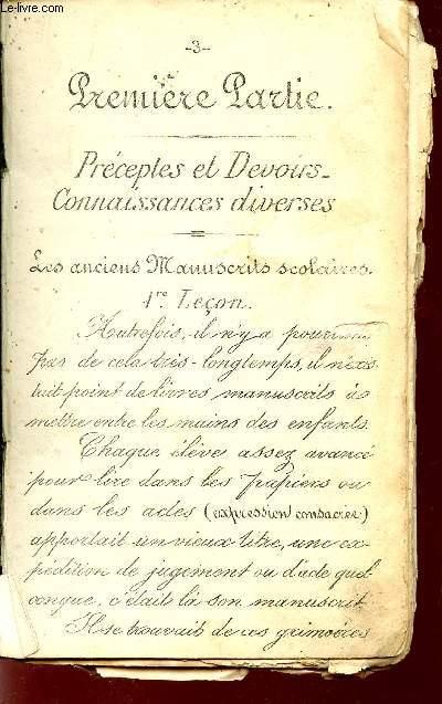 LECTURE GRADUEE D'ECRITURES DIVERSES. (TITRE INCONNU)