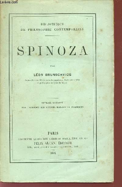 SPINOZA / BIBLIOTHEQUE DE PHILOSOPHIE CONTEMPORAINE.