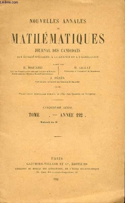 NUOVELLES ANNALES DE MATHEMATIQUES / JOURNAL DES CANDIDATS AUX ECOLES SPECIALES, A LA LICENCE ET A L'AGREGATION / TRRANSFORMATIONS LINEAIRES, VOLUMES ET DETERMINANTS.