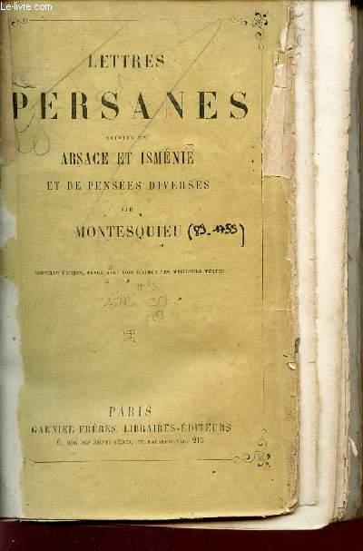 LETTRES PERSANES /  ARSACE ET ISMENIE ET DE PENSEES DIVERSES.