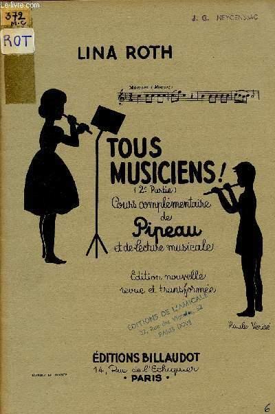 TUOS MUSICIENS (2è PARTIE) / COURS COMPLEMANTAIRE DE PIPEAU ET DE LECTURE MUSICALE.