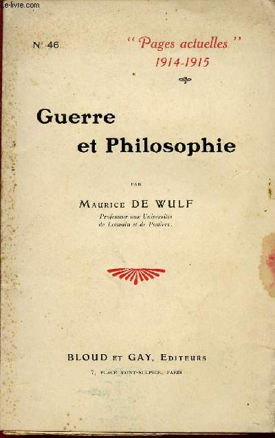 GUERRE ET PHILOSOPHIE / COLLECTION