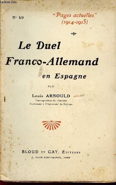 LE DUEL FRANCO-ALLEMAND EN ESPAGNE / COLLECTION