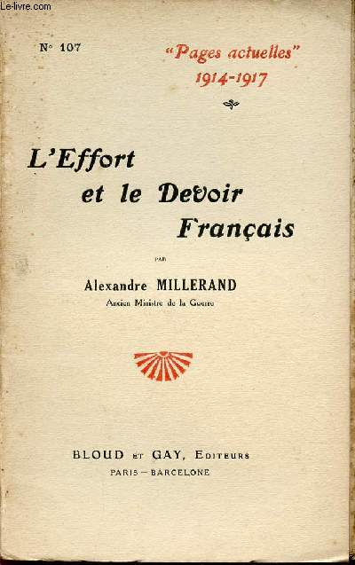 L'EFFORT ET LE DEVOIR FRANCAIS / COLLECTION