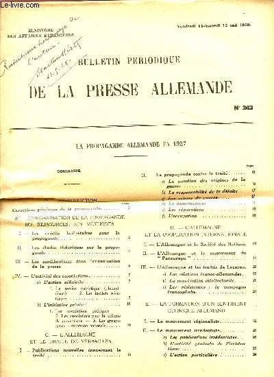 BULLETIN PERIODIQUE DE LA PRESSE ALLEMANDE - N°362 / 11 ET 12 MAI 1928.