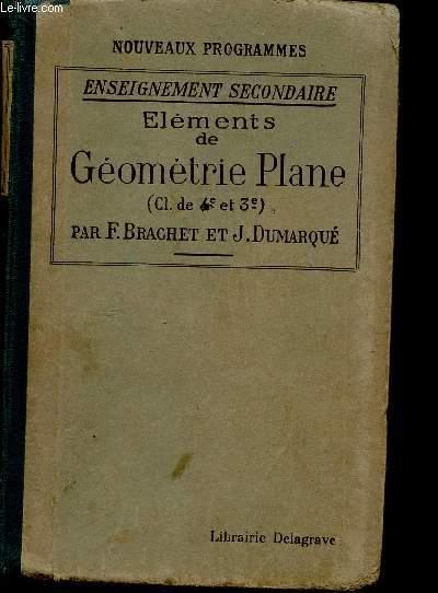 ELEMENTS DE GEOMETRIE PLANE / CLASSES DE 4è ET 3è / ENSEIGNEMENT SECONDAIRE / NOUVEAUX PROGRAMMES.