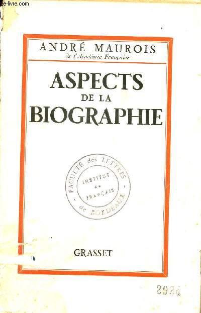 ASPECTS DE LA BIOGRAPHIE.