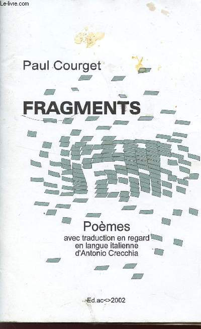FRAGMENTS - POEMES.