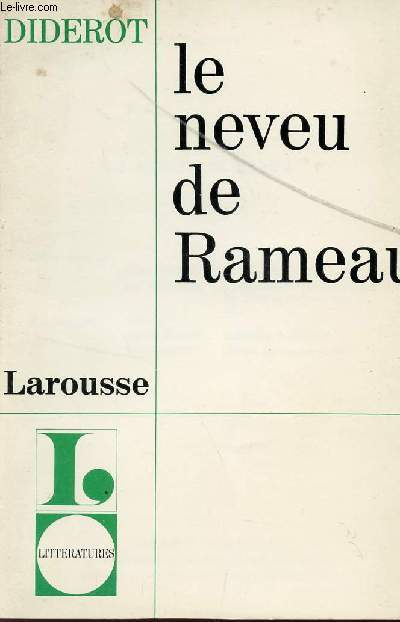 LE NEVEU DE RAMEAU / COLLECTION LITTERATURES.