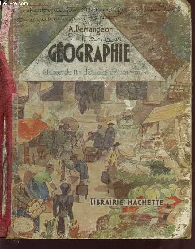 GEOGRAPHIE - L'ECONOMIE FRANCAISE / CLASSE DE FIN D'ETUDES PRIMAIRES.