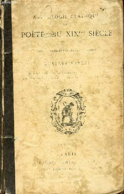 ANTHOLOGIE CLASSIQUE DE POETES DU XIXè SIECLE.