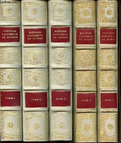 HISTOIRE NATURELLE DE BUFFON - 10 TOMES COMPLETS / ILLUSTRATIONS DE JACQUES DE SEVE.
