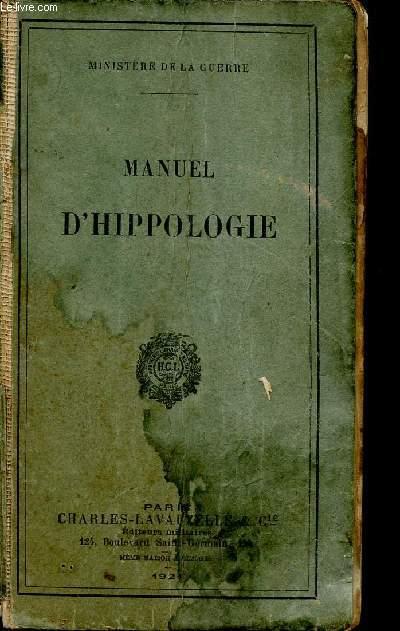 MANUEL D'HIPPOLOGIE.