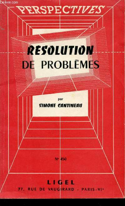 RESOLUTIONS DE PROBLEMES - N°450.