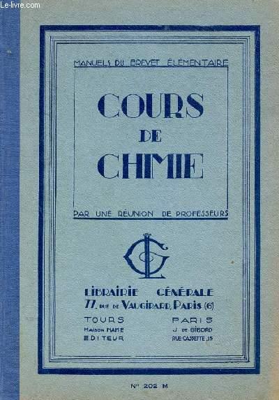COURS DE CHIMIE - SOLUTIONNAIRE - N°202 M - SOLUTIONNAIRE   / MANUEL DU BREVET ELEMENTAIRE.