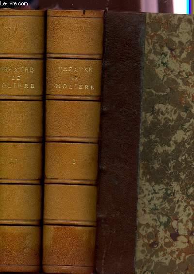THEATRE DE MOLIERE / EN 2 VOLUMES / TOME 1 + TOME 2 / COLLECTION DES GRANDS LIVRES.