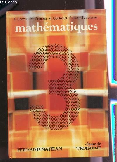 MATHEMATIQUES  - CLASSE DE TROISIEME.