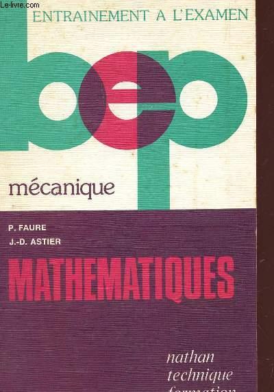 MATHEMATIQUES - CALCULS ET PROBLEMES / MECANIQUE /  BEP / COLLECTION