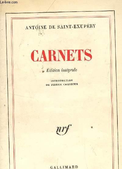 CARNETS - (EDITION INTEGRALE).