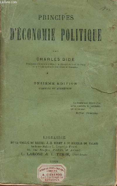 PRINCIPES D'ECONOMIE POLITIQUE / 11e EDITION.