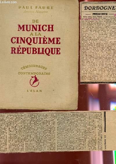 DE MUNICH A LA CINQUIEME REPUBLIQUE / COLLECTION