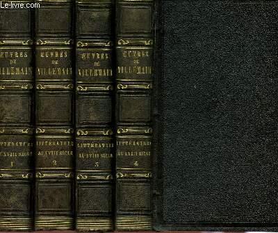 COURS DE LITTERATURE FRANCAISE - TABLEAU DE LA LITTERATURE AU XVIIIe SIECLE - EN 4 TOMES (TOMES I + II).