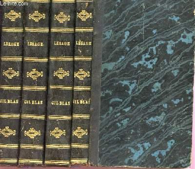 HISTOIRE DE GIL BLAS DE SANTILLANE- EN 4 VOLUMES : TOME PREMIER + TOME SECOND + TOME CINQUIEME - TOME SIXIEME - INCOMPLET : 4 TOMES/6).