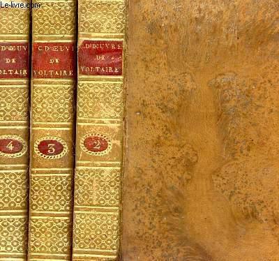 CHEFS D'OEUVRE DRAMATIQUES DE VOLTAIRE- EN 3 VOLUMES : TOMES 2 + 3 + 4 /  (INCOMPLET - 3 VOLUMES SUR 4).