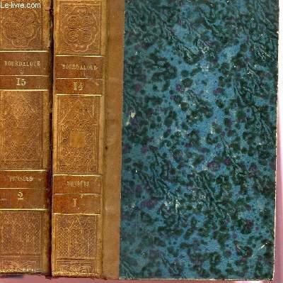 OEUVRES COMPLETES DE BOURDALOUE - EN DEUX VOLUMES : VOLUMES 14+15 - TOMES I+II : PENSEES.