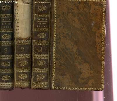PARADIS PERDU - EN TROIS VOLUMES / TOMES 1+2+3.