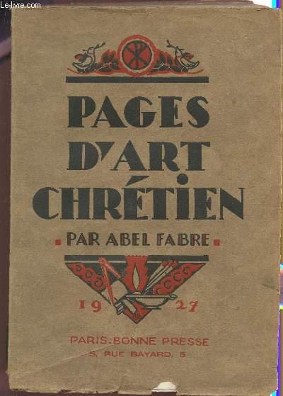 PAGES D'ART CHRETIEN.