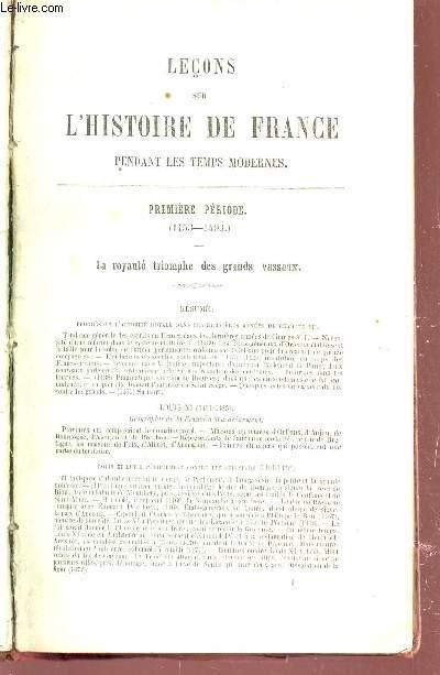 LECONS SUR L'HISTOIRE DE FRANCE PENDANT LES TEMPS MODERNES.