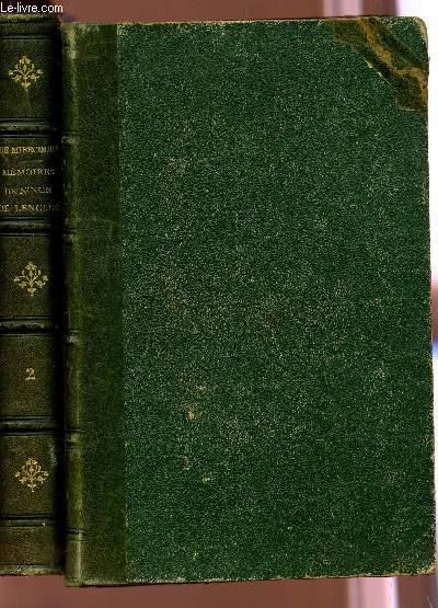 MEMOIRES DE NINON DE LENCLOS -EN 2 TOMES (TOME PREMIER + TOME DEUXIEME).