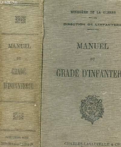 MANUEL DU GRADE D'INFANTERIE - MISE A JOUR A LA DATE DU 1er SEPTEMBRE 1935.