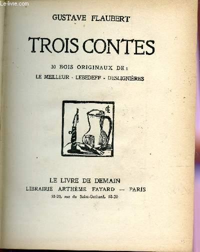 TROIS CONTES : UN COEUR SIMPLE + MADAME BOVARY + SALAMMBÔ/ COLLECTION