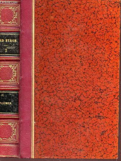 OEUVRES COMPLETES DE LORD BYRON - TOME II : POEMES  / SEPTIEME EDITION.