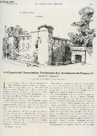 La construction moderne n 40 3 juillet 1927 congres for Architectes de france