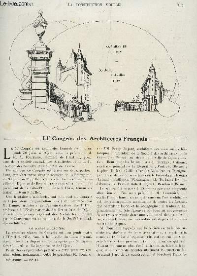 la construction moderne n 41 10 juillet 1927 lve. Black Bedroom Furniture Sets. Home Design Ideas