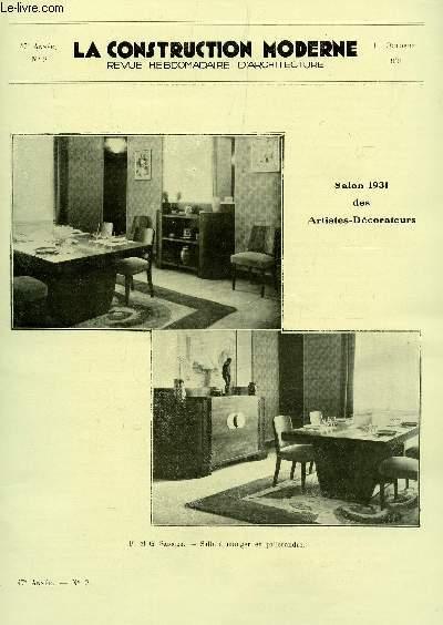 La construction moderne : 47e annee - n°13 - 27 decembre 1931 / le ...