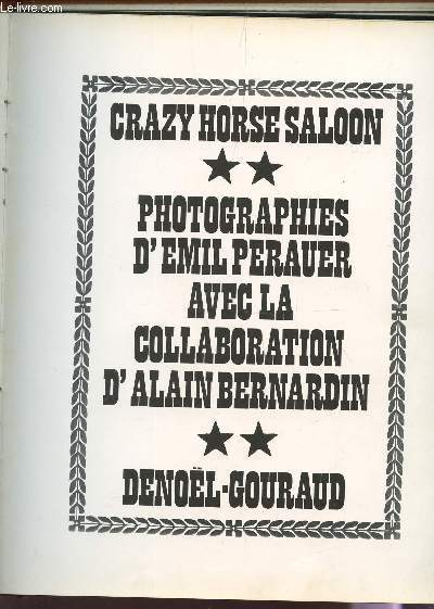CRAZY HORSE SALOON.