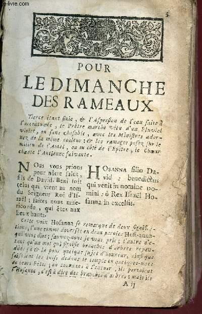 POUR LES DIMANCHES DES RAMEAUX / POUR LES LUNDY, MARDY, MECREDY, JEUDY, VENDREDY, SAMEDY  DE LA SEMAINE SAINTE - POUR LE JOUR DE PASQUES...
