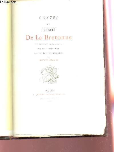CONTES DE RESTIF DELA BRETONNE - le pied de fanchette ou le soulier couleur de rose.